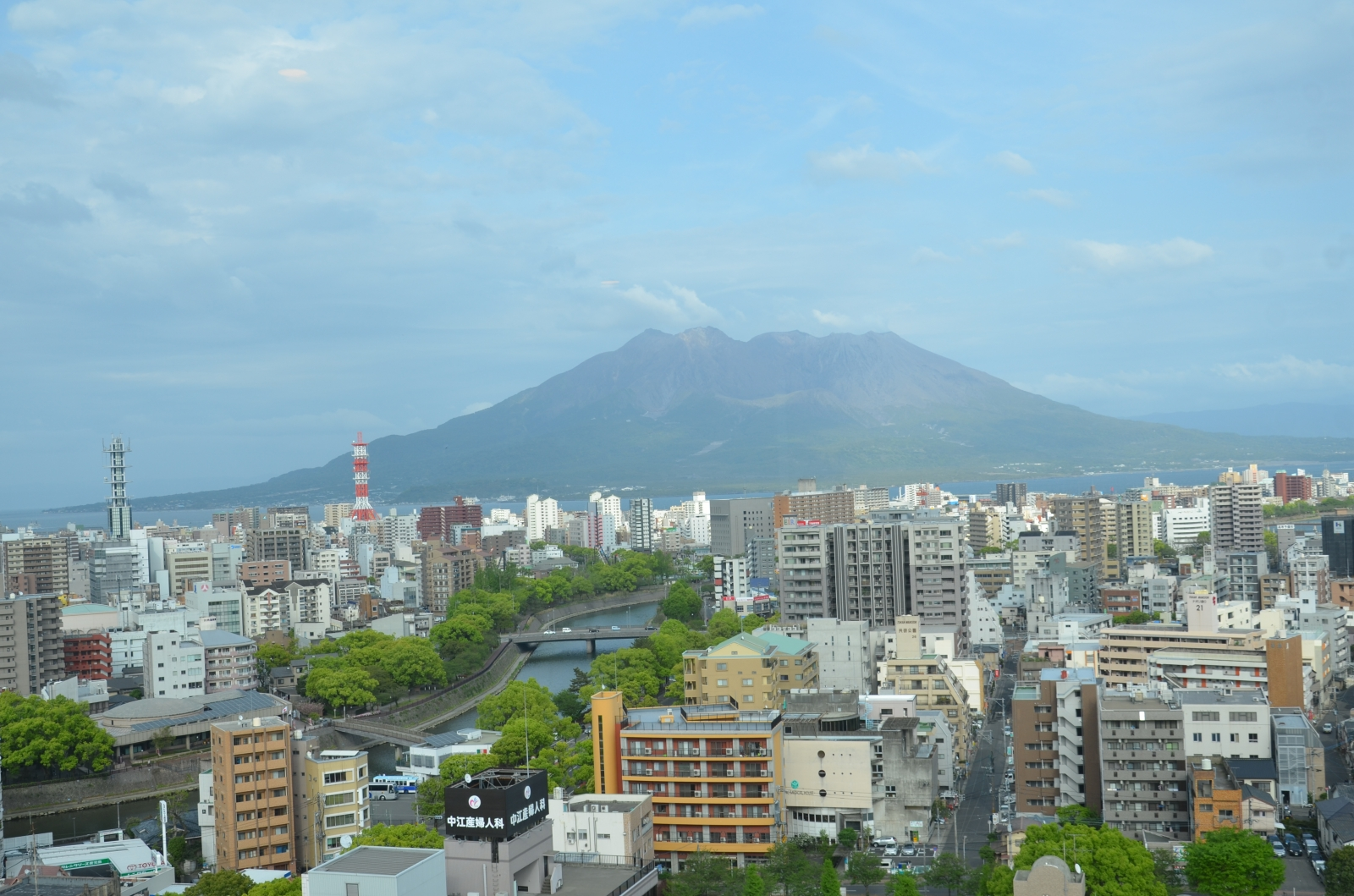 Sakurajima from hotel window