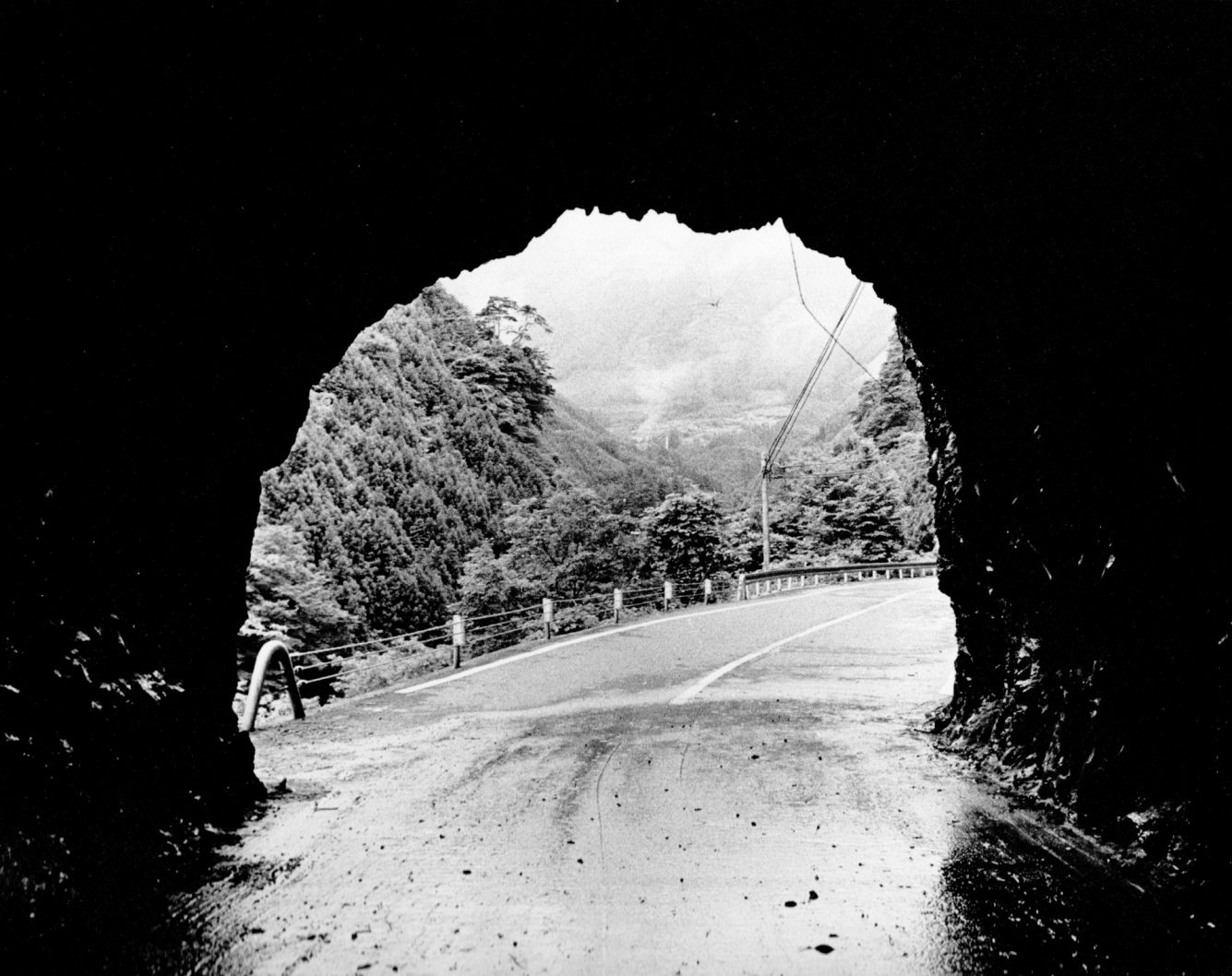looking out of tunnel